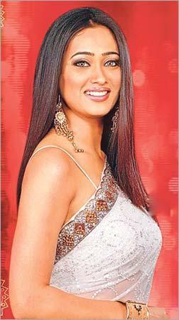 Shweta Tiwari in a classic white saree