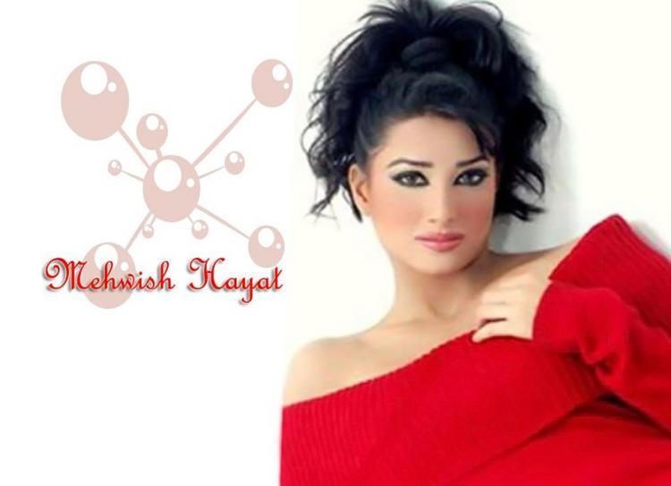 Mehwish Hayat Red Dress Hot wallpaper