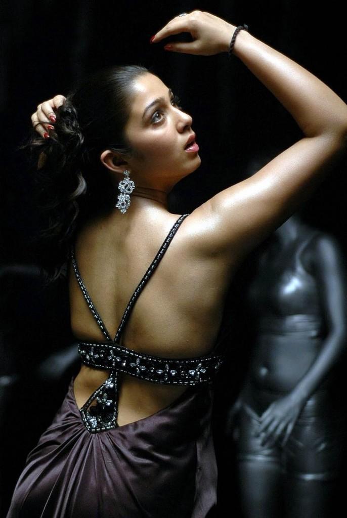 Charmi sexy backless dress photo