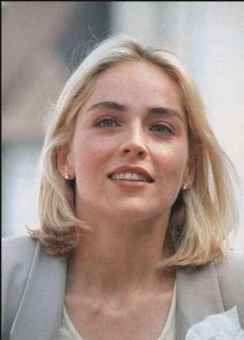 Sharon Stone stunning face look