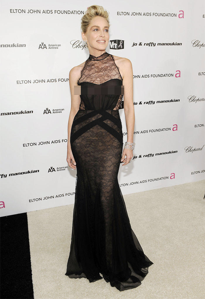 Sharon Stone amazing gown still