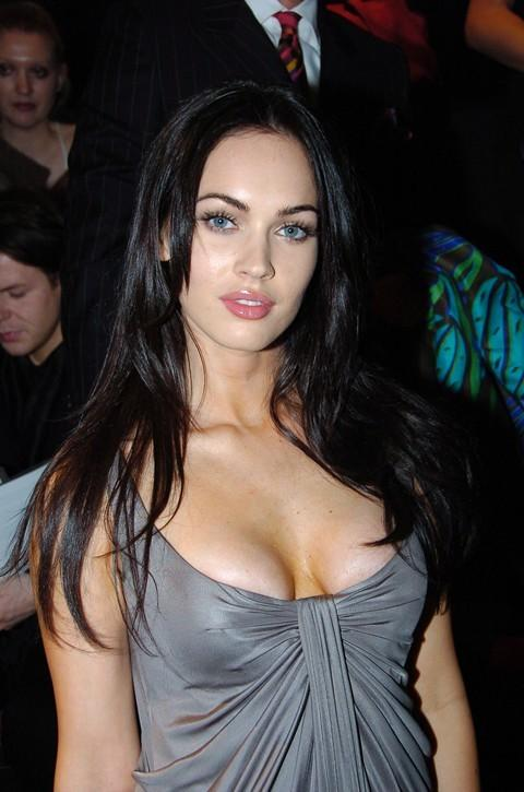 Megan Fox open boob romantic look still