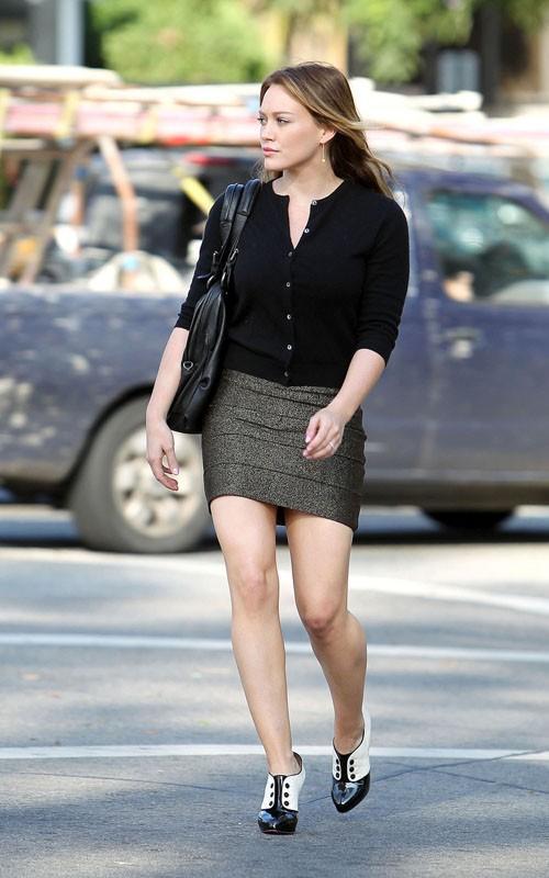 Hilary Duff mini dress photo