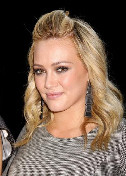 Hilary Duff white hair picture