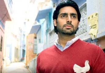 Abhishek Bachchan red t shirt photo