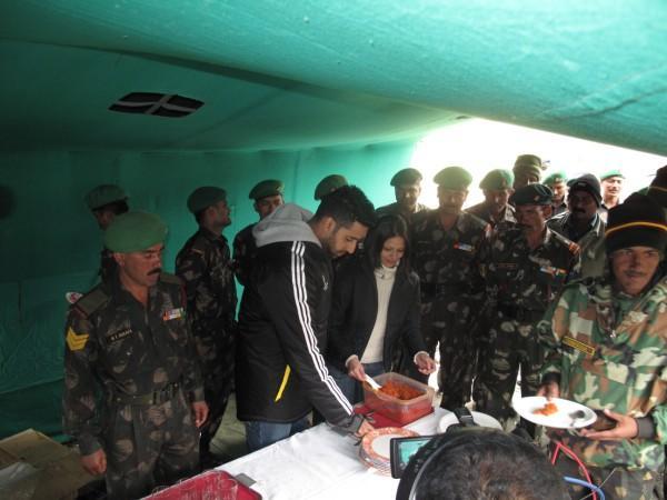 Abhishek Bachchan at Bada Khana with the jawans