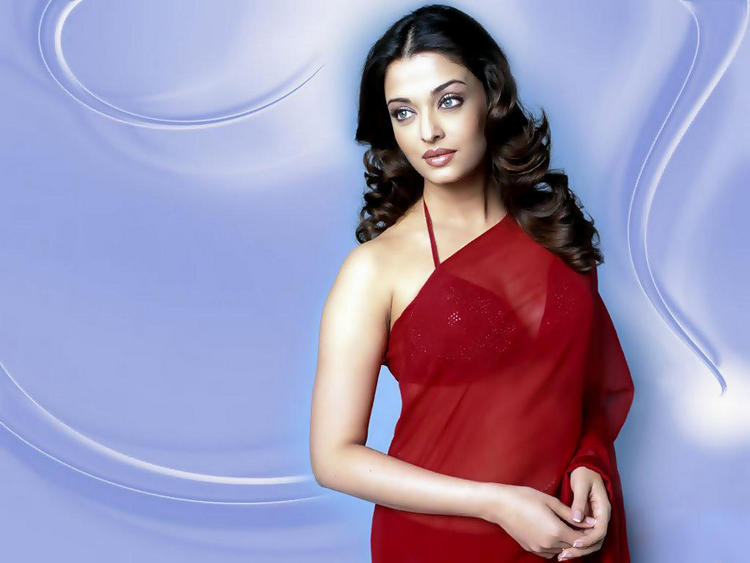 Aishwarya Rai in Hot Red Saree