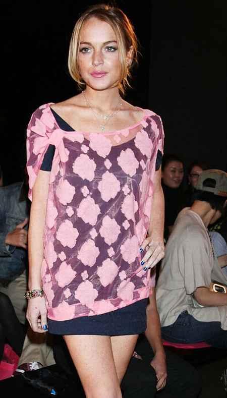 Lindsay Lohan mini dress cute photo