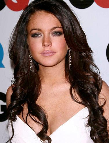 Lindsay Lohan long hair glamour still