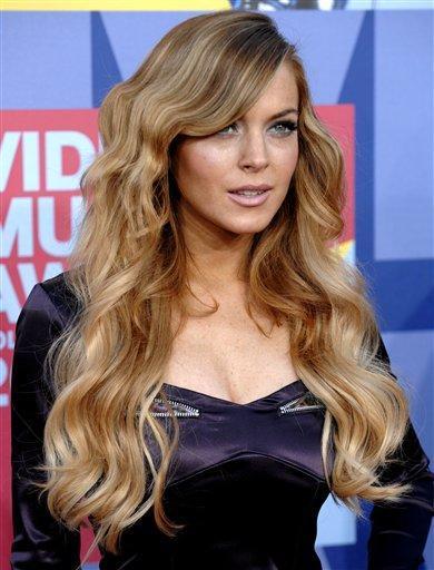 Lindsay Lohan long hair style still