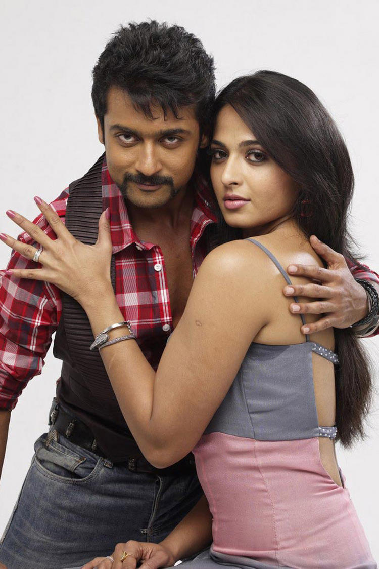 Surya and Anushka Yamudu Movie Hot Stylist Pose