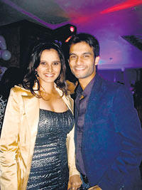 Sania Mirza with Sohrab Glamour Photo