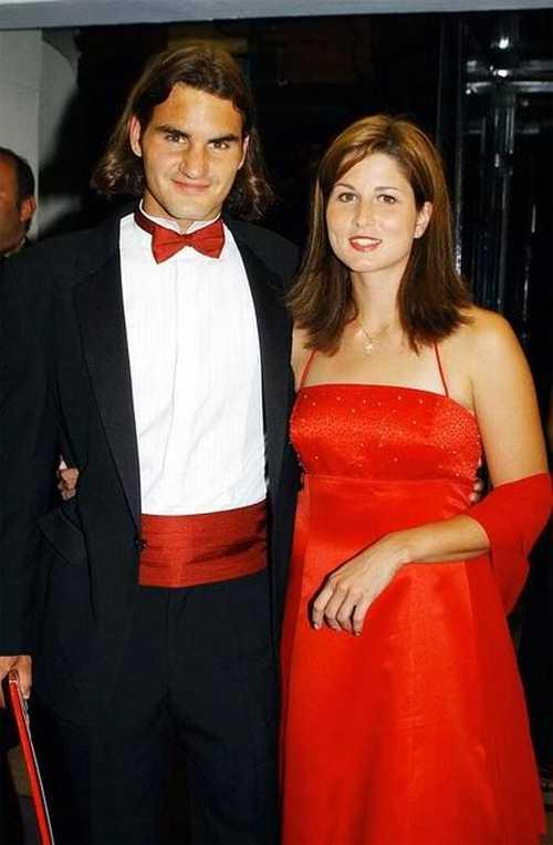 Roger Federer with Beautiful Wife