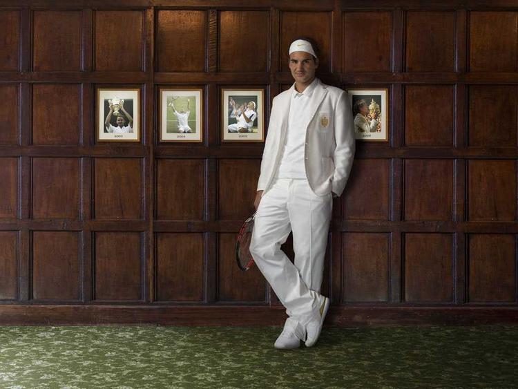 Roger Federer Stylist Pose Photo Shoot