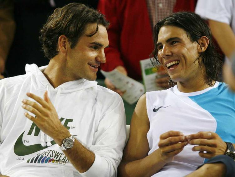 Roger Federer with Rafael Nadal Pics