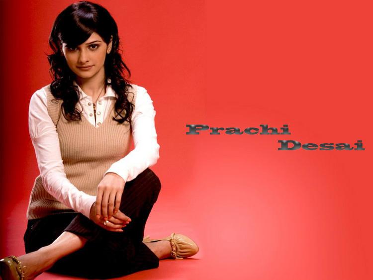 Prachi Desai Red Background wallpaper