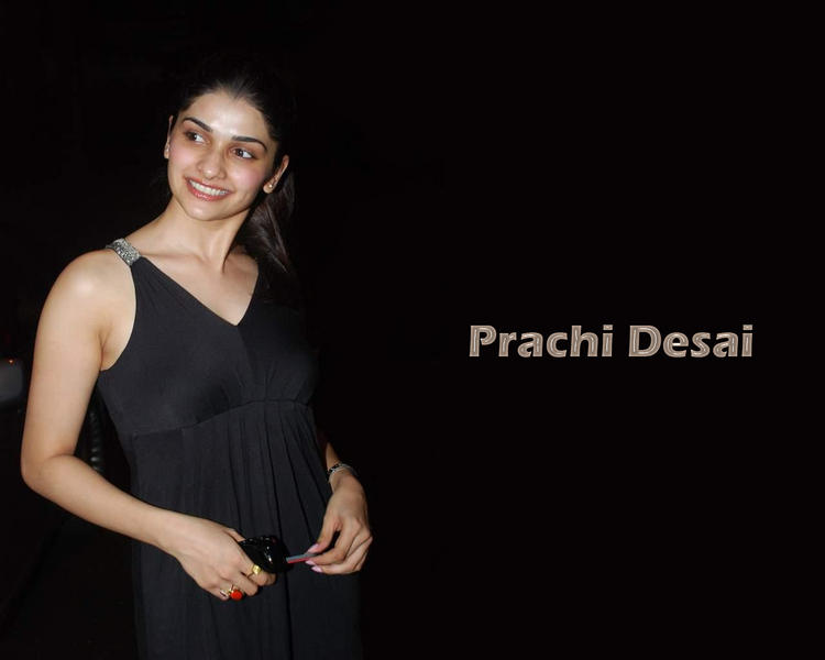 Prachi Desai Black Color Dress Wallpaper