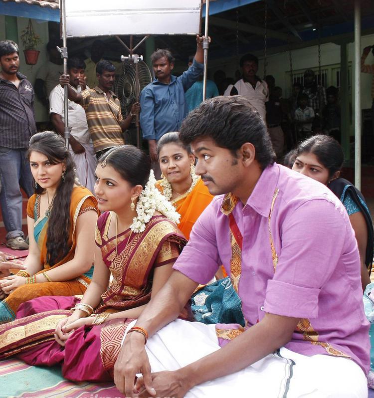 Velayutham Vijay and Hansika Motwani Saranya Stills
