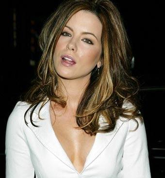 Kate Beckinsale Sexy Face Look Wallpaper