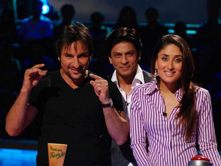 Kareena Kapoor with Saif Ali Khan And Shahrukh Khan