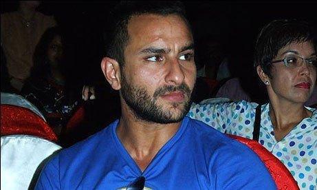 Saif ali Khan Blue T Shirt Still