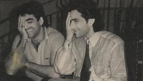 Akshay Kumar and Saif Ali Khan Cute Photo