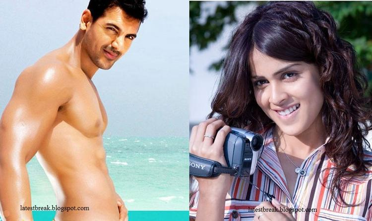 Genelia and John Abraham cute hot face in Force Movie