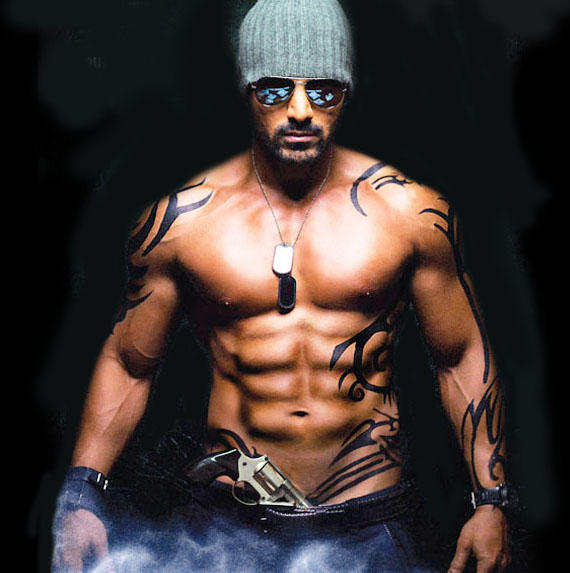 John Abraham's Muscle power and eight packs in the movie Force
