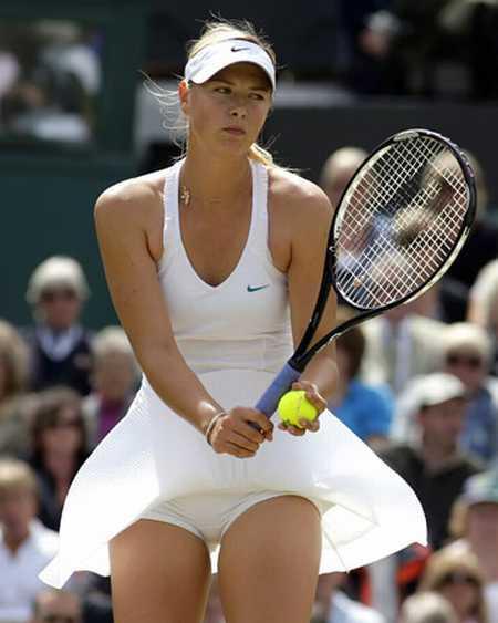 Maria Sharapova Playing Photo