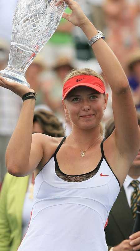 Maria Sharapova with Trophy Happy Still