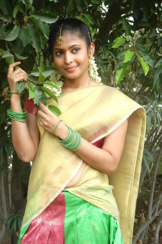 Saira Banu Half Saree Cute Still