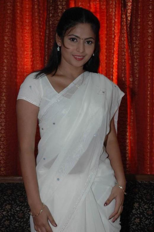 Saira Banu White Saree Awesome Still