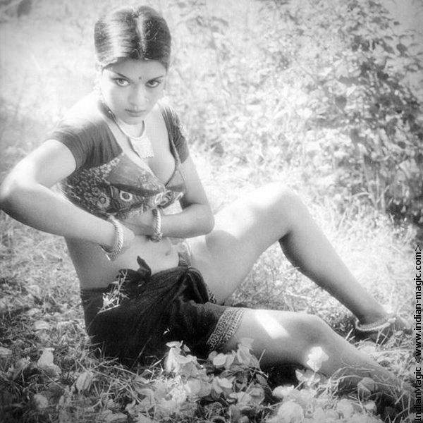 Zeenat Aman Black And White Sexy Photo