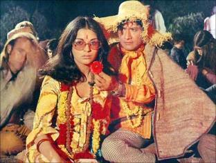 Zeenat Aman and Dev Anand Hare Rama Hare Krishna Still