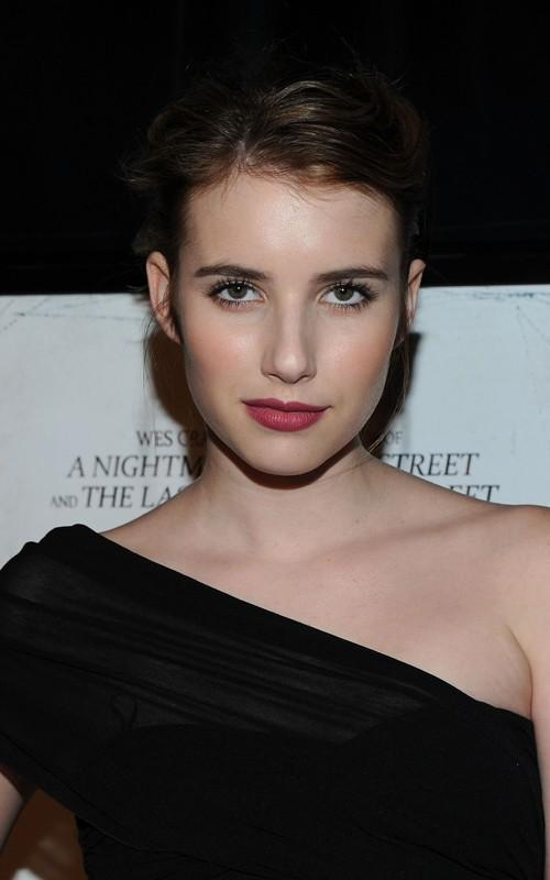 Emma Roberts Black Color Dress Awesome Still