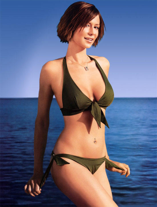 Catherine Bell Sexy Bikini Dress Wallpaper