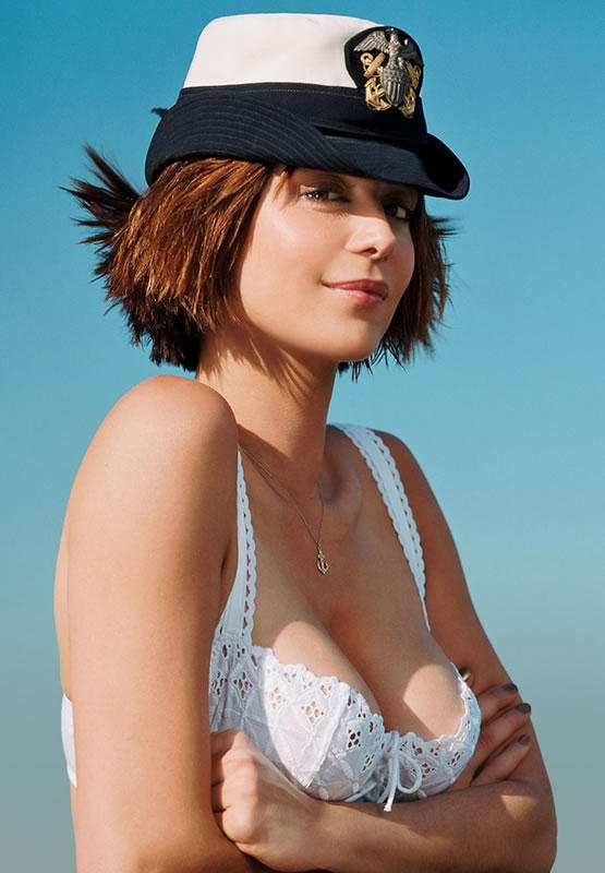 Catherine Bell Open Boob Cute Wallpaper