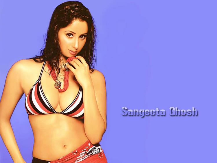 Sangeeta Ghosh hot look in bikini
