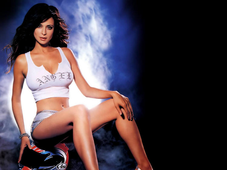 Catherine Bell Backround Black White Wallpaper