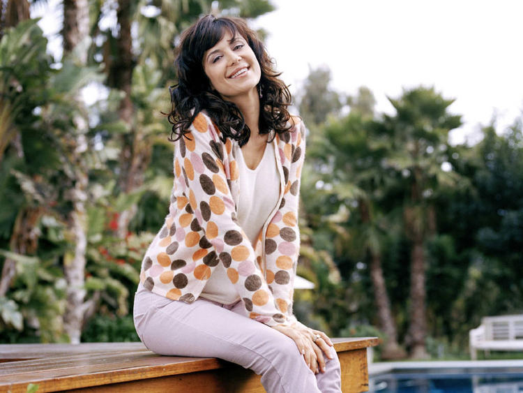 Catherine Bell Very Cute Stills in Bench