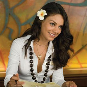 Mila Kunis White Shirt Beauty Smile Pic
