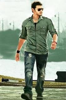 Mahesh Babu With Tight Jeans and Green Color Shirt
