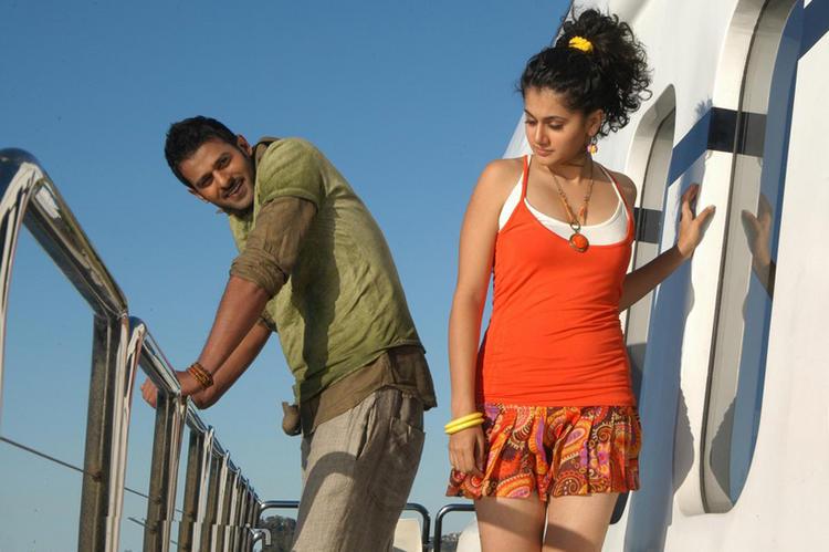 Prabhas and Tapsee Mr Perfect Telugu Movie Still
