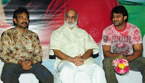 Rajamouli,Prabhas and Raghavendra Rao Images