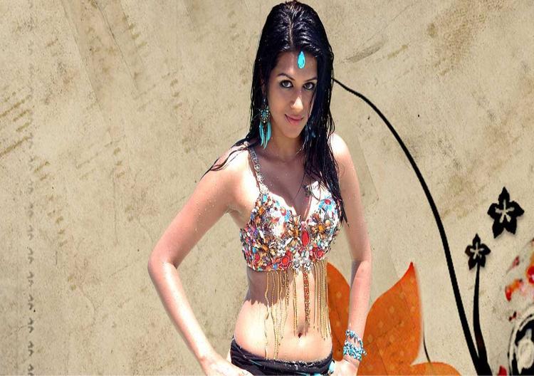 Shraddha Das Sexy Navel Pose Wallpaper