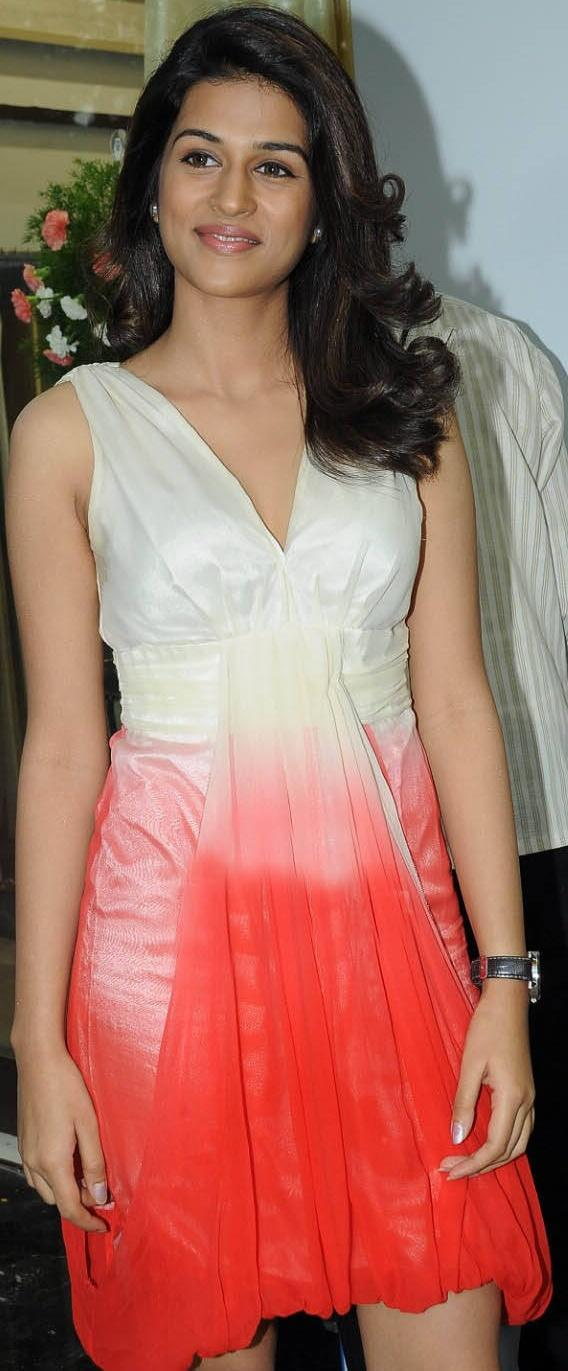 Shraddha Das Red Hot Dress Beauty Still