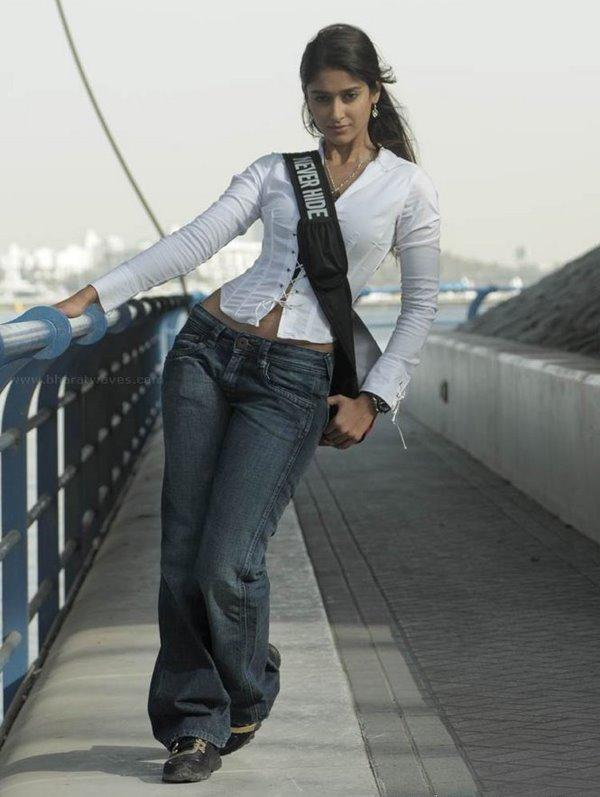 Ileana D'Cruz Spicy Pose With Tight Jeans and White Shirt