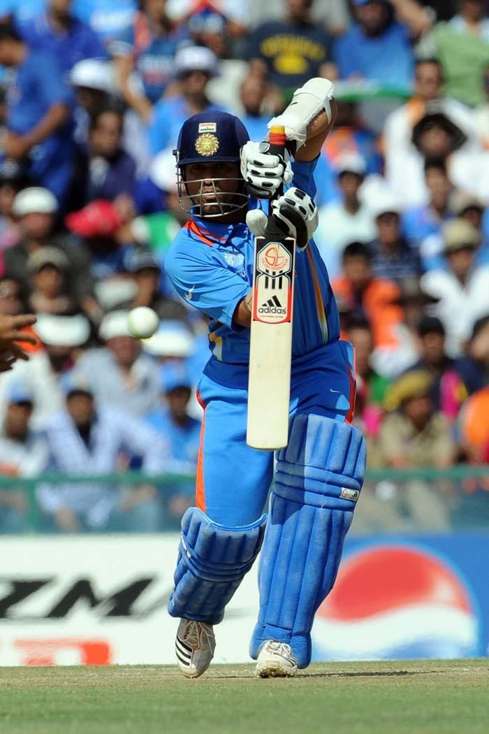 Sachin Tendulkar Play a Ball in World Cup Semi Final Match