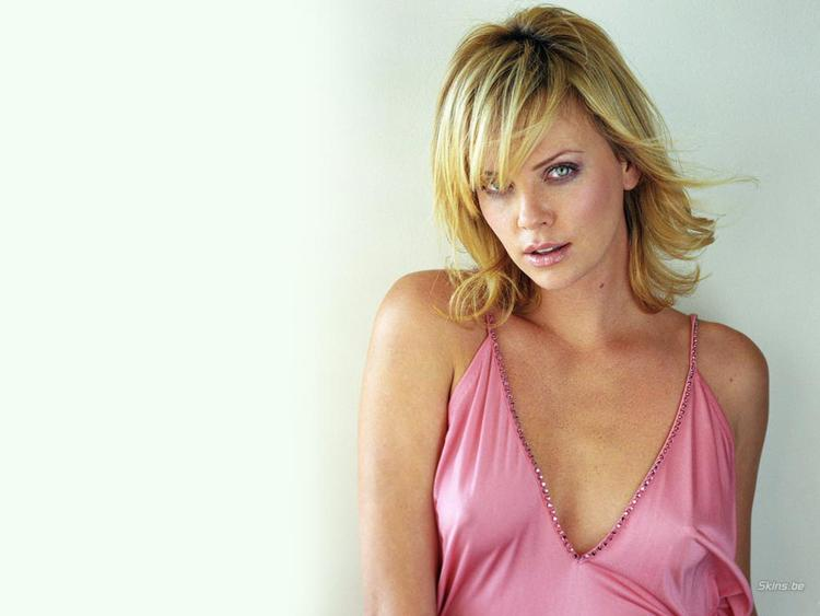 Charlize Theron Pink Dress Sexiest Photo Shoot