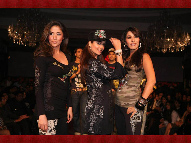 Urmila Matondkar with Amrita Arora and Sophia Chaudhary